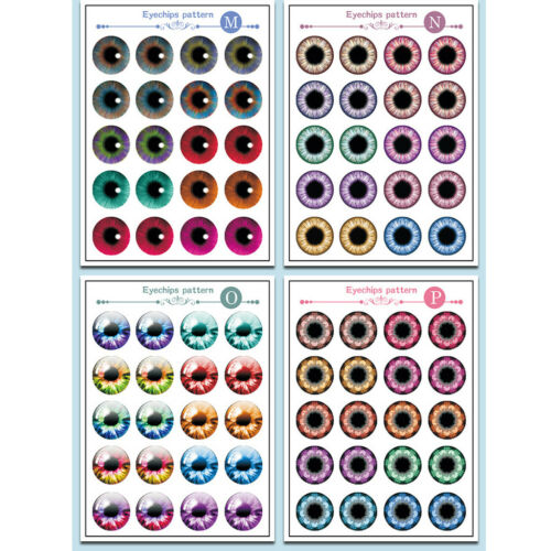 10 Pairs eyes chips pattern per sheet 9 sheets in total for 12/'/' Blythe Doll
