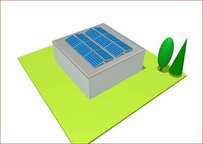 Solarenergie Heimwerker Flachdach Photovoltaik Anlage 3,3kwp Komplett Set Neu Ideal Für Doppelgarage