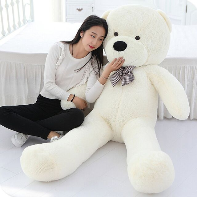 47/'/' Giant White Teddy Bear Big Stuffed Animal Huge Kid LARGE Soft Plush Toy New