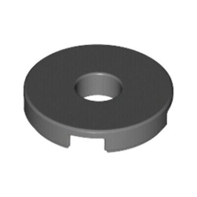 Noir Tile round 2x2 with hole Lego 15535-4x Plaques Black lot kg NEW