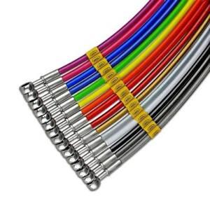 Tubi-freno-SetUp-OEM-4-tubi-Blu-racc-acciaio-Laverda-500-Standard-1983-1984-HEL
