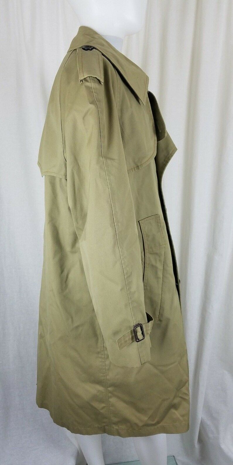 Vintage Harbor Borg Master Trench-Coat John Weitz Profond Flanelle Pile Borg Harbor Hommes 79d7e0