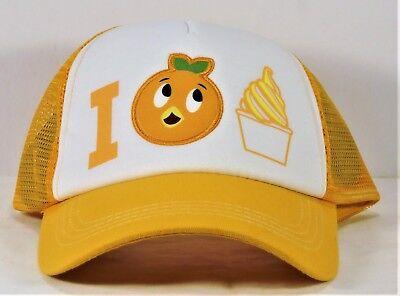 Disney Parks Exclusive I Orange Bird Dole Whip Baseball Trucker Cap Hat NWT NEW
