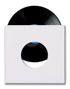 1000-45-RPM-7-034-Record-Inner-Sleeves-With-Hole-Heavy-Weight-20-White-Paper-Acid