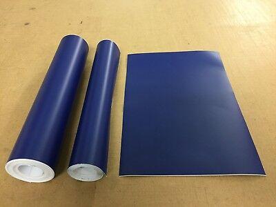10M Roll Matt Sticky Back vinyl cupboard covering craft Azure Blue 610mm M2018