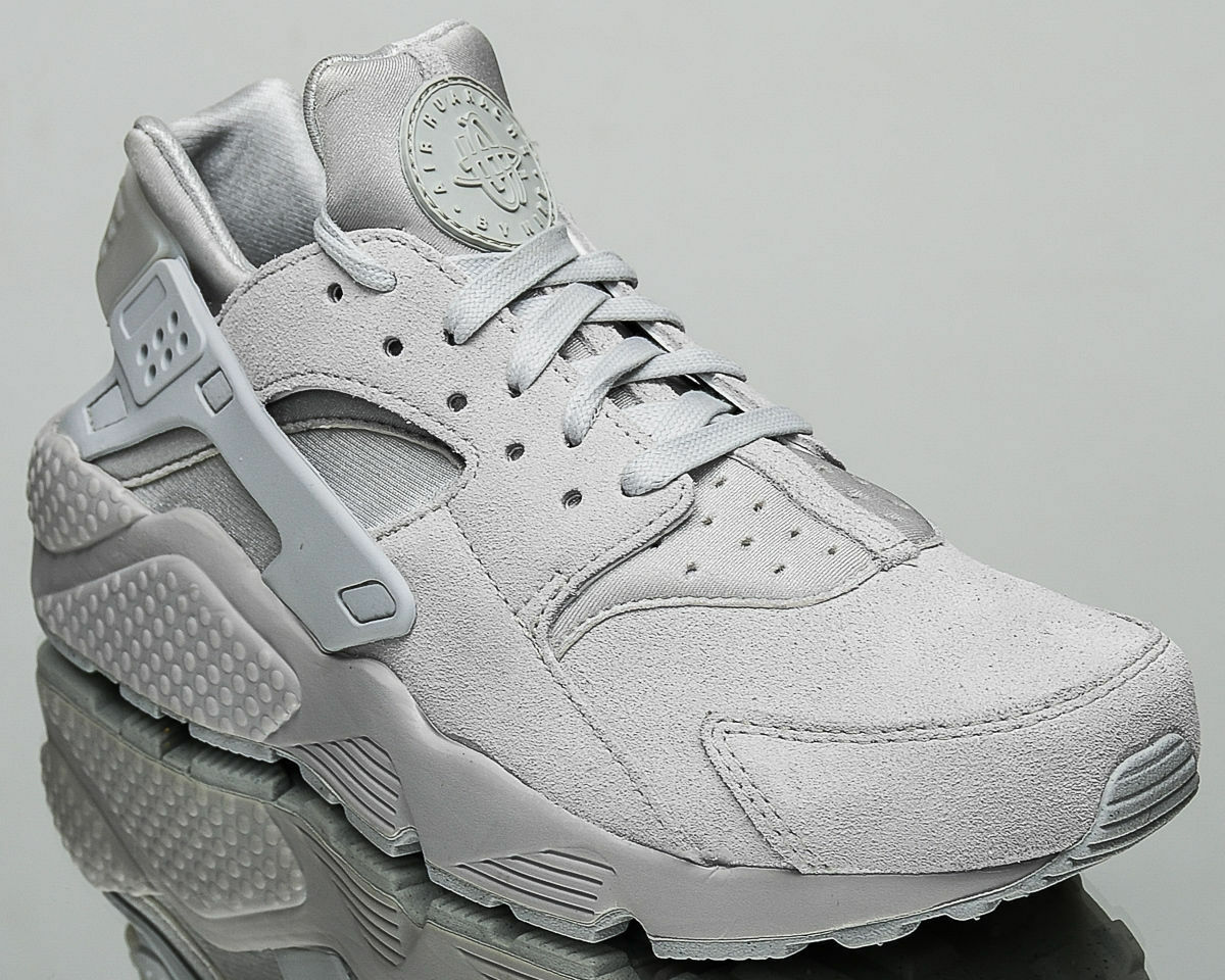 NIB MEN'S NIKE AIR HUARACHE RUN SIZE PREMIUM NEUTRAL GREY SUEDE SIZE RUN 9 FAST SHIPPING a191fa