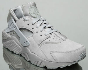 3023f0c74c9f1 NIB MEN S NIKE AIR HUARACHE RUN PREMIUM NEUTRAL GREY SUEDE SIZE 9 ...