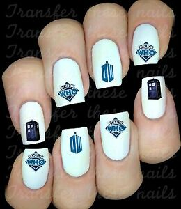 DR-WHO-Stickers-ongles-autocollant-manucure-nail-art-water-deco