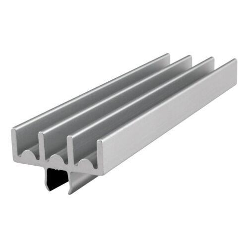 "80//20 Inc Aluminum Lower Door Slide Track Profile 15 Series #2220 x 18/"" Long N"