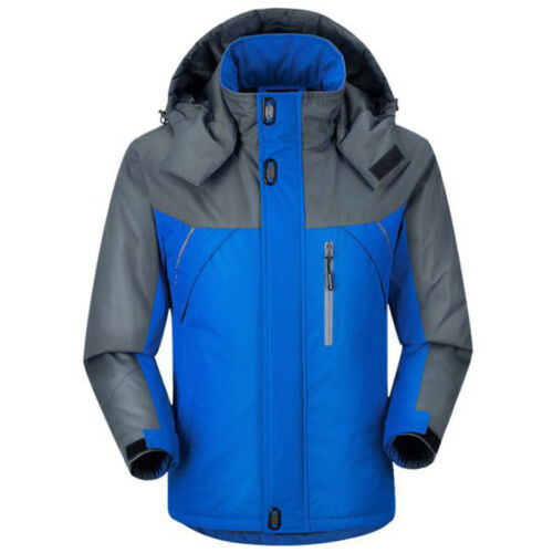 Men Winter Hooded Coat Windproof Waterproof Jacket Hiking Fishing Outwear Coat