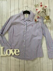 J-Crew-Size-16-blue-pink-cotton-classic-fit-business-career-shirt-work-smart-VGC