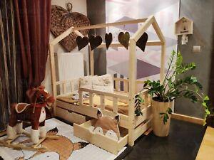 Details zu Kinderbett Hausbett aus Holz Bonnie für Kinder für Jugendliche  Schlafzimmermöbel