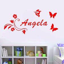Wall Stickers Custom Baby Name Butterfly New Vinyl Decal Decor Nursery Kids Diy