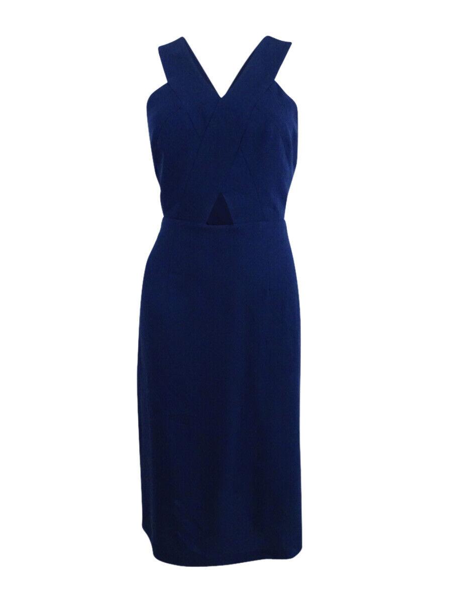 BCBGeneration Women's Cutout Crepe Midi Dress