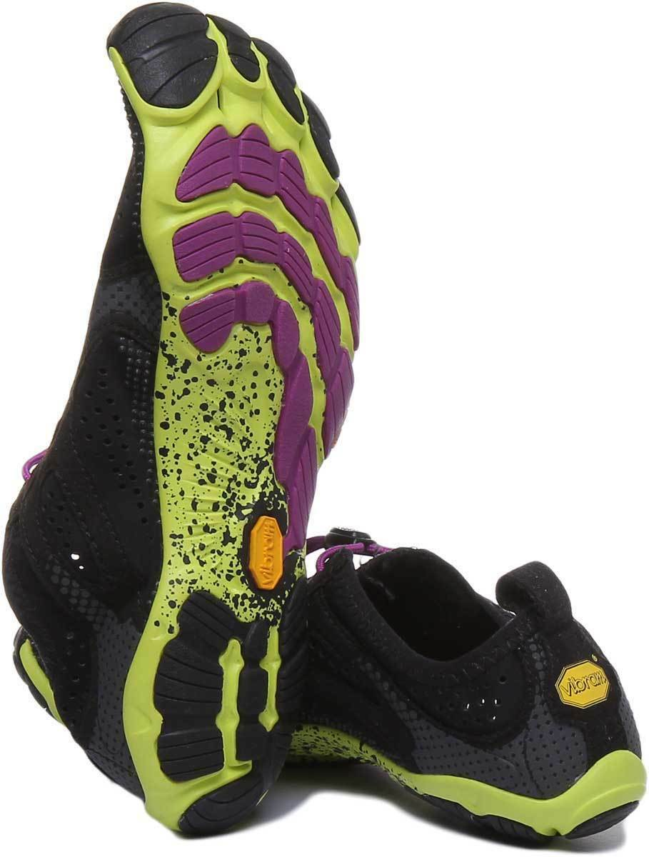 Vibram Five Five Five Fingers V Run Women Synthetic Black Yellow Barefoot Running shoes UK 97faf1