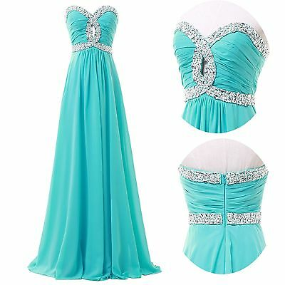 2014 Women Long Formal Ball Gown Evening Prom Cocktail Party Bridesmaid Dresses