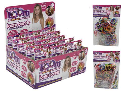 GUAINA bande bambini Rainbow Bracelet Making Charm Anelli nuovi Bandz Mania RICARICA