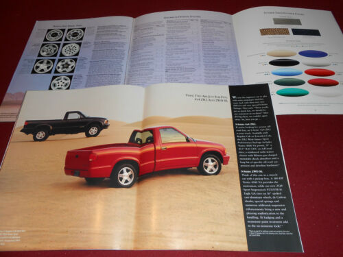 1996 CHEVROLET S-10 PICKUP TRUCK 96 S-SERIES SALES CATALOG 38-Page BROCHURE