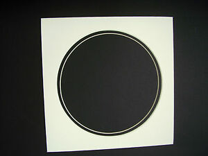 Picture Frame Mat Round Circle Cream With Black Liner