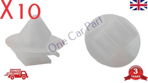 10x tagliare clip per PEUGEOT 106 206 207 306 307 806 Porta esterna stampaggio Gonna