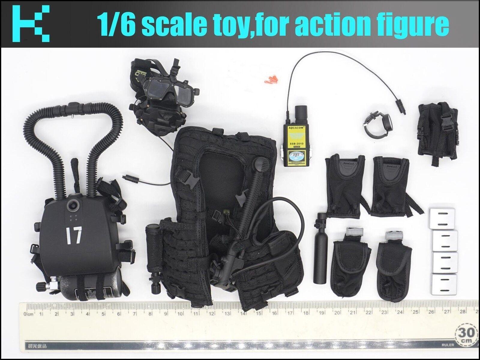 Y31-07 1/6 DAMTOYS 78055  MARINE COMBAT DIVER diving equipment set
