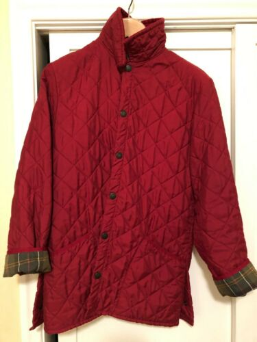 Barbour Classic Eskdale Red Vintage Quilt Jacket S
