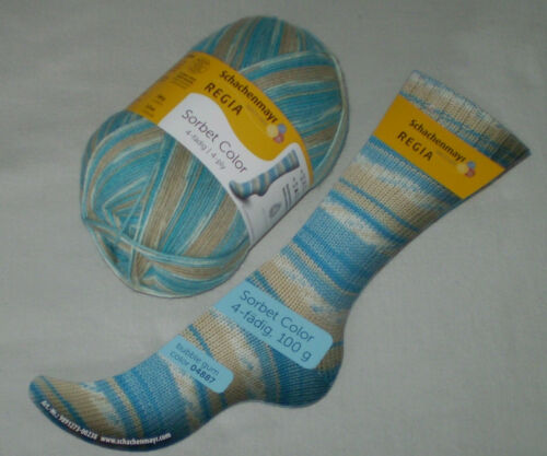 4-fädig musterbildend 100 gr REGIA SORBET COLOR Sockenwolle 4-fach