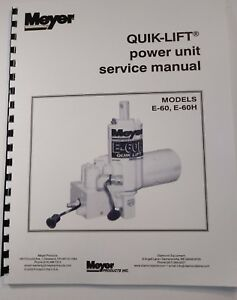 image is loading meyer-snow-plow-pump-service-manual-e60-amp-