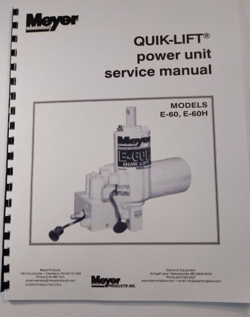 meyer e60 plow wiring diagram meyer snow plow pump service manual e60   e60 h models full color  meyer snow plow pump service manual e60