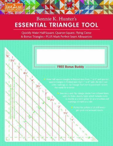 NEW Bonnie Hunter essential triangle tool free bonus Buddy ruler