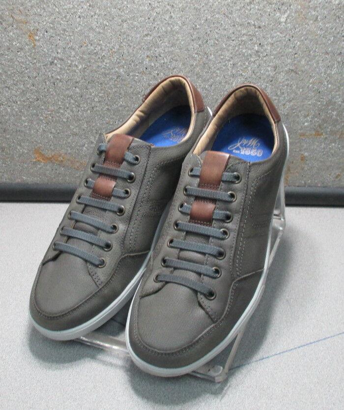 271479 ES38 Chaussures Hommes Taille 10.5 m gris lacets en cuir Johnston & Murphy