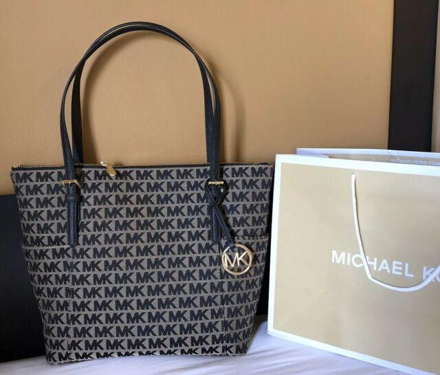 52154b9aea8d New $248 Michael Kors Jet Set Item Handbag Purse MK Monogram Designer Bag