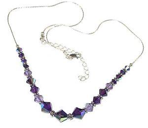 2-tone-PURPLE-Tanzanite-Crystal-Necklace-Bali-Sterling-Silver-Swarovski-Elements