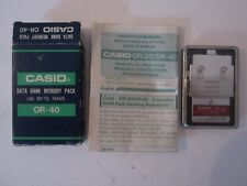 CASIO DATA BANK MEMORY PACK 4K BYTE RAM OR - 40 CALCULATOR VINTAGE NEW IN BOX