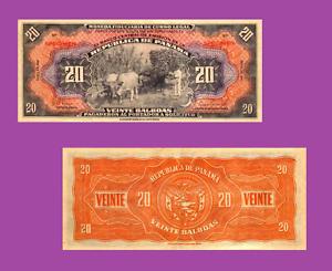 Reproduction UNC Republica de Panama 20 Balboa 1941
