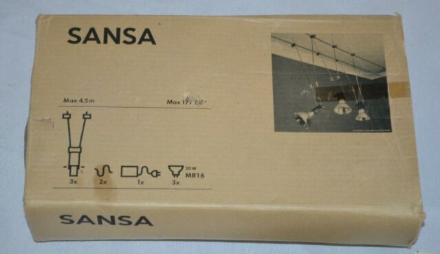 Ikea Sansa Suspended Wire 3 Light Track