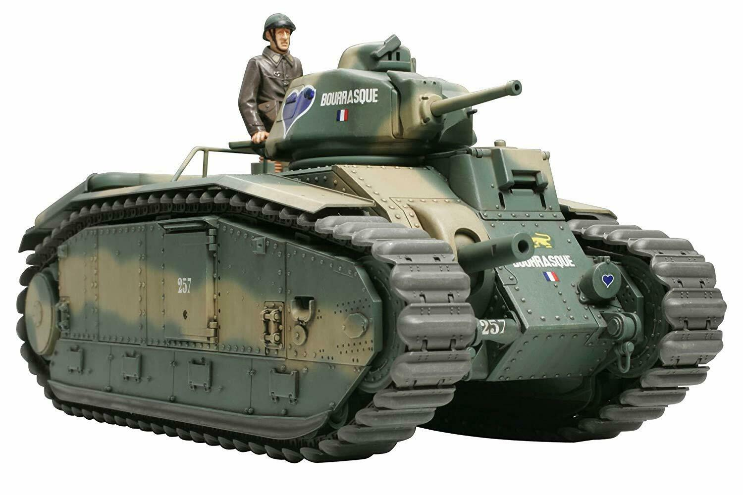 Tamiya 1 35 Military No.282 French Army Tank B1 bis Plastic Model 35282 Japan