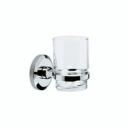 SO HOLD C Solo Toothbrush and Tumbler Holder - Chrome Plated