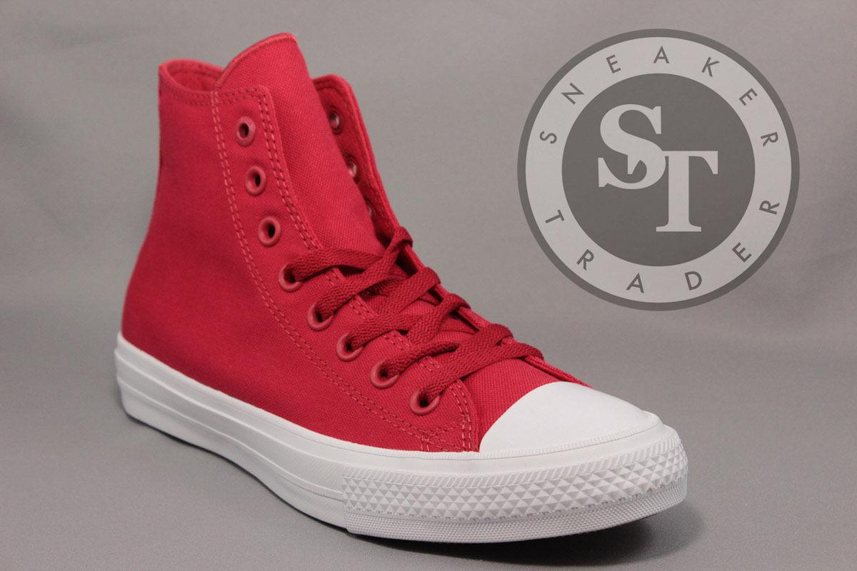 CONVERSE ALL STAR CT CHUCK TAYLOR II 2 HI SALSA 150145C SALSA RED WHITE SZ: 9