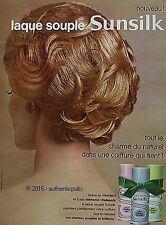 PUBLICITE SUNSILK LAQUE SOUPLE CHEVEUX VITORESOL DE 1962 FRENCH AD PUB VINTAGE