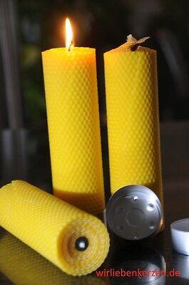 3 x Bienenwachskerzen XXL 100 /% Bienenwachs Kerzen 210 x 56mm Handarbeit aus D