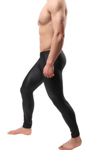 Men/'s Faux Leather Pencil Pants PU Stretch Leggings Bodywear Trousers Tight M-XL
