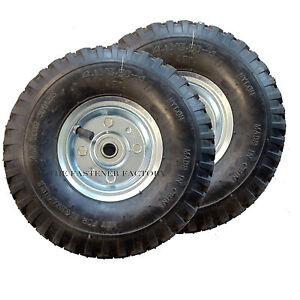 2-x-Trolley-Wheels-Standard-Size-Pneumatic-4-10-3-50-4