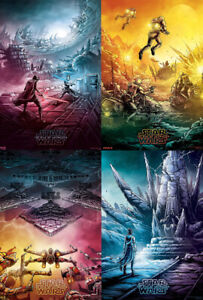Star Wars The Rise Of Skywalker Imax Posters Set Of 4 Ebay