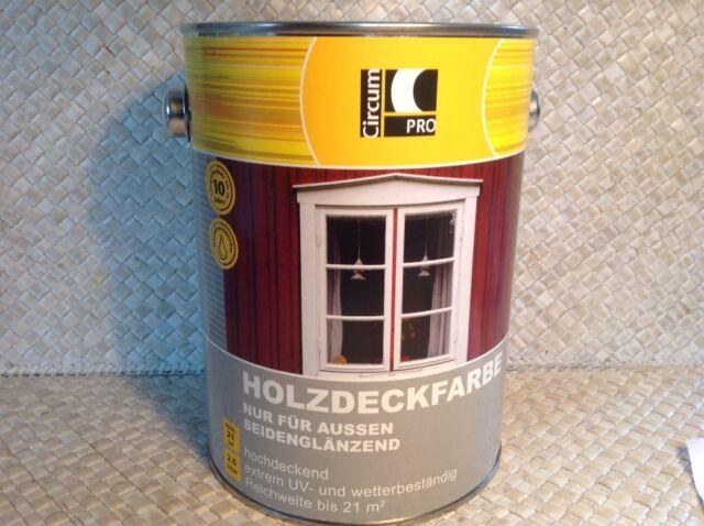 3 Liter Holzfarbe weiß Wetterschutzfarbe 4x 750 ml  circumPro 0095 Farbe