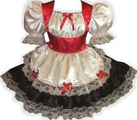 Custom Fit Holiday Swiss Maid Adult Lg Baby Sissy Dress Leanne