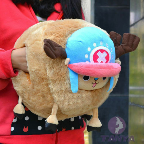 ONE PIECE TONY CHOPPER PLUSH CUSHION PILLOW HAND WARMER Gift doll 2015