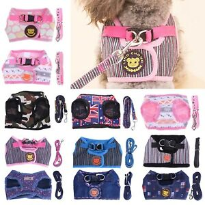 Pet-Dog-Soft-Harness-Vest-Belt-Leashes-Puppy-Walking-Lead-Traction-Strap-Leash
