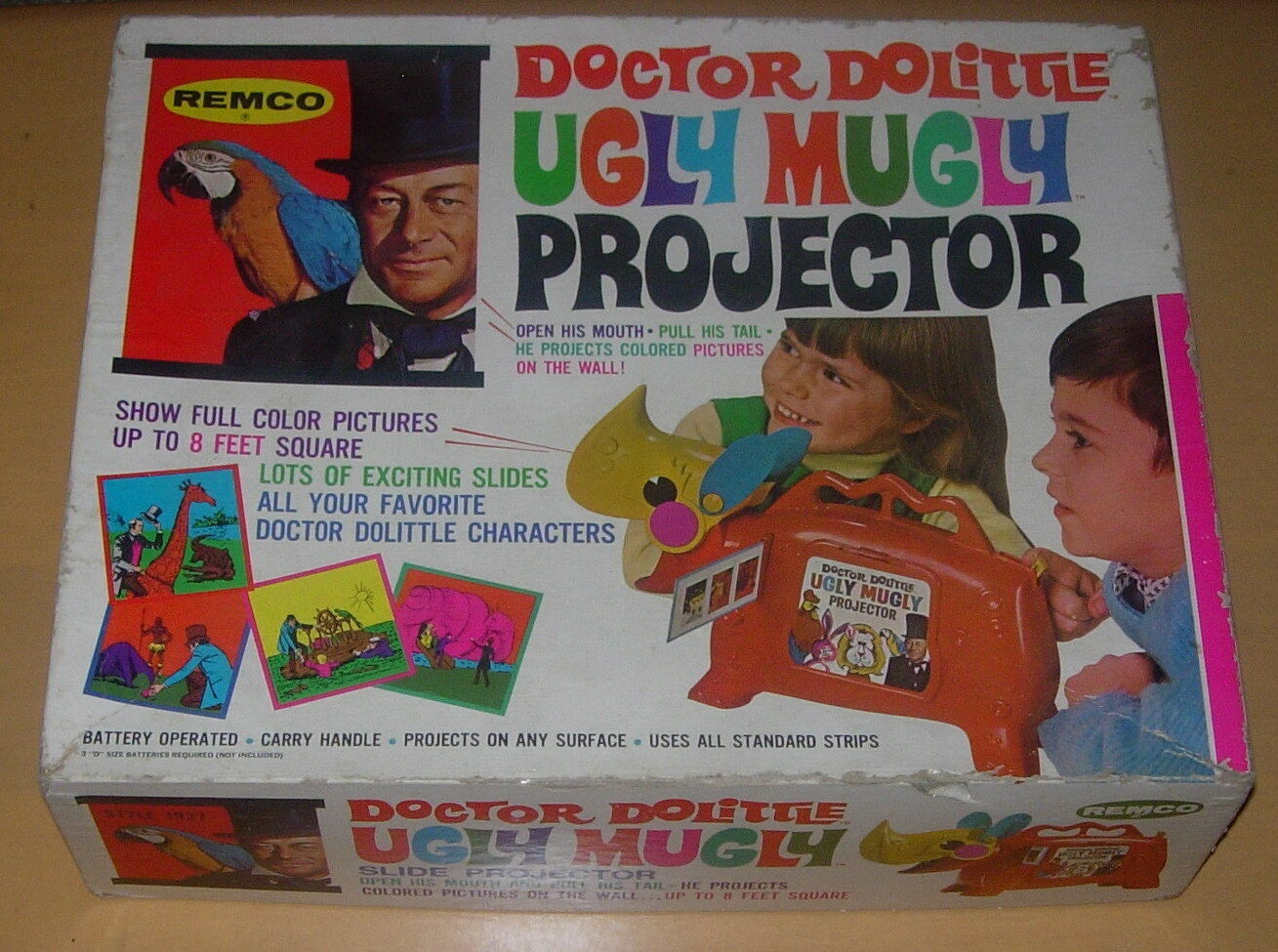 REMCO  UGLY MUGLY PROJECTOR  DOCTOR DOCTOR DOCTOR DOLITTLE  1968  BOXED 7bf121