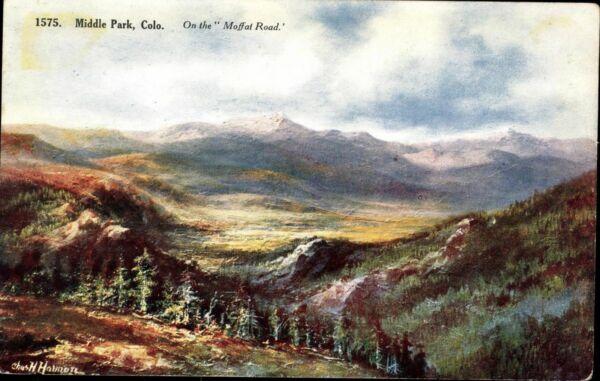 Postkarte Ansichtskarte Ak Pk Farbig Ungelaufen Middle Park Colo Karte Usa